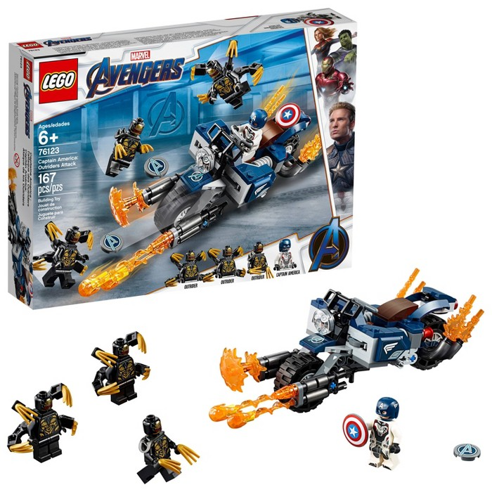 LEGO Super Heroes Marvel Avengers Movie 4 Captain America: Outriders Attack 76123 - image 1 of 7