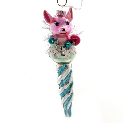 """Shiny Brite 7.0"""" Vc Figure Icicle Reindeer Beads  -"""