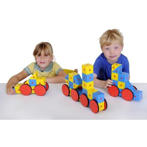 Educational Advantage 3D Magnetic Blocks, Assorted Colors, set of 40 - image 1 of 1