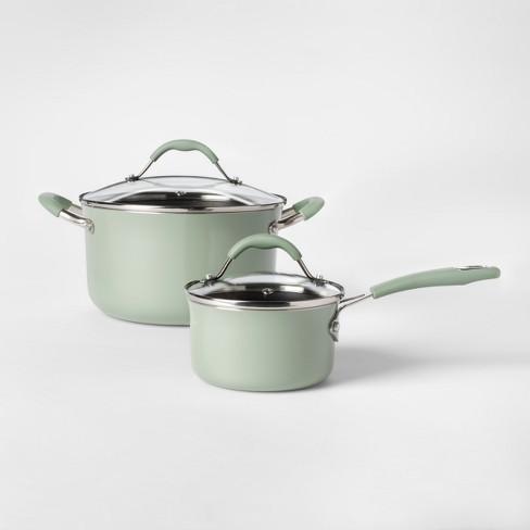 Cravings By Chrissy Teigen 12pc Aluminum Cookware Set Green Target
