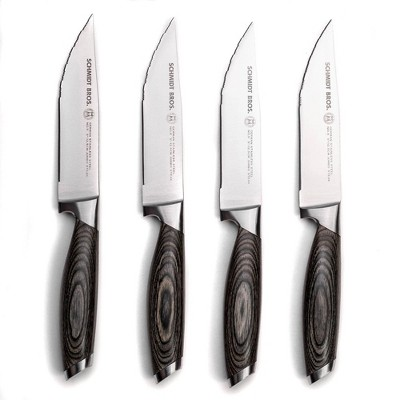 Schmidt Brothers Cutlery Bonded Ash 4pc Jumbo Steak Knife Set