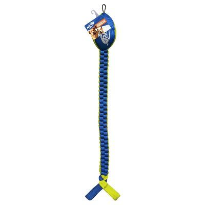 NERF Vortex Chain Braid Head Dog Toy - Blue/Yellow - L