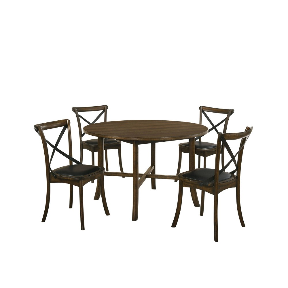 Coupons 5pc Somers Round Dining Set Oak - HOMES: Inside + Out