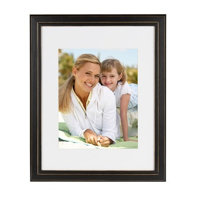 "11"" x 14"" Matted to 8"" x 10"" Kieva Wall Frame Black - DesignOvation"