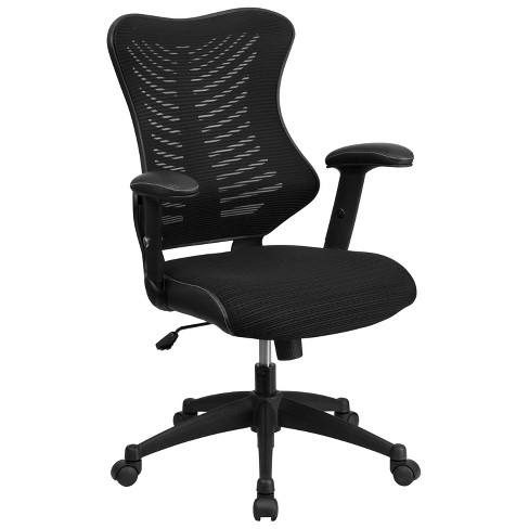Executive Swivel Office Chair with Mesh Padded Seat Black - Flash Furniture - image 1 of 4