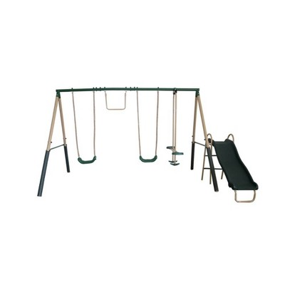 XDP Recreation Childrens Outdoor Playground Metal Structure Swing Set with Slide