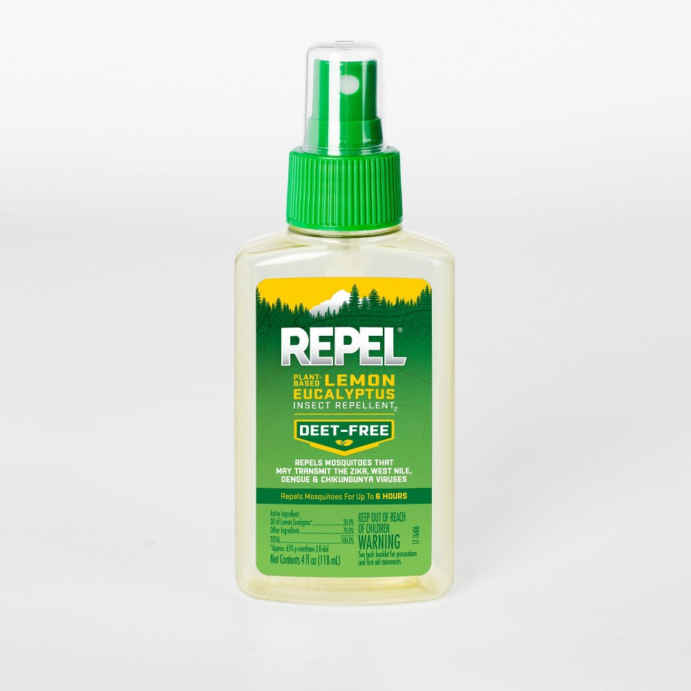 Image of Repel Plant-Based Lemon Eucalyptus Insect Repellent Pump Spray 4 fl oz