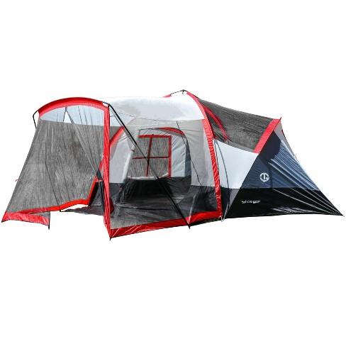 Tahoe Gear Zion 9 Person 3 Season Family Camping Tent And Screen Porch Red Target
