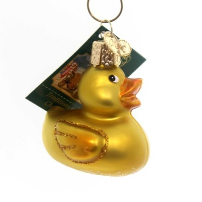 Old World Christmas Rubber Ducky Bath Time Toy Playtime  -  Tree Ornaments