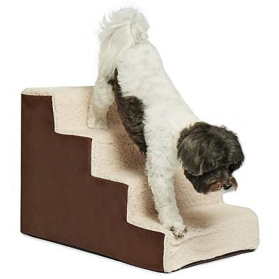 Precious Tails High Density Foam 4 Steps Sherpa Dog Stairs