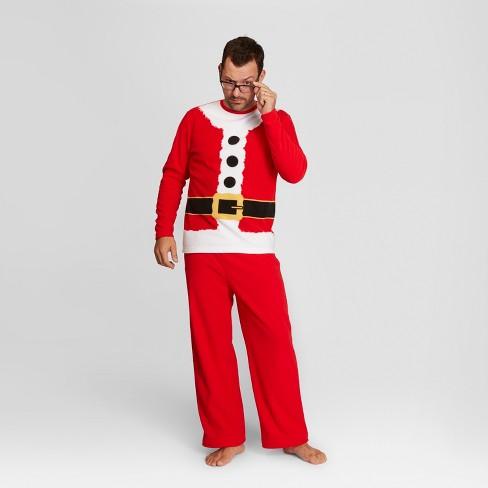 96b5d5eb08 Men s Holiday Santa Pajama Set - Wondershop™ Red M   Target