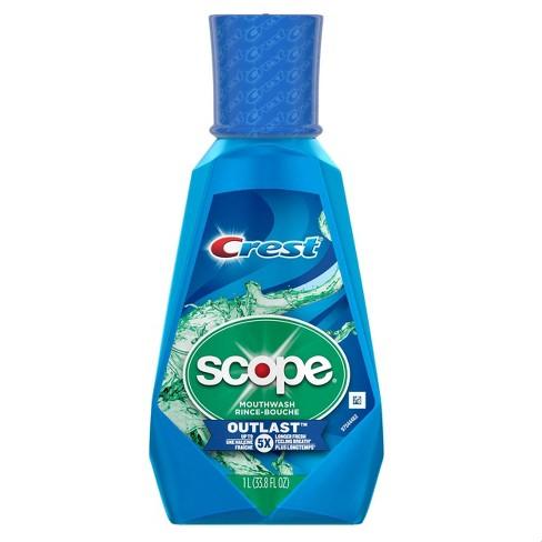 Crest Scope Outlast Long Lasting Mouthwash Peppermint - 33.81 fl oz - image 1 of 3