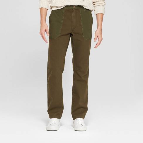 Men's Tapered Fit Utility Pants - Goodfellow & Co™ Military Green 33x32 - image 1 of 3