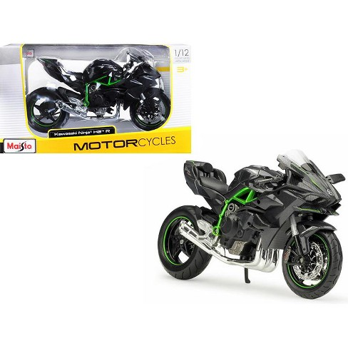 Kawasaki Ninja H2 R Black and Carbon 1/12 Diecast Motorcycle Model by Maisto