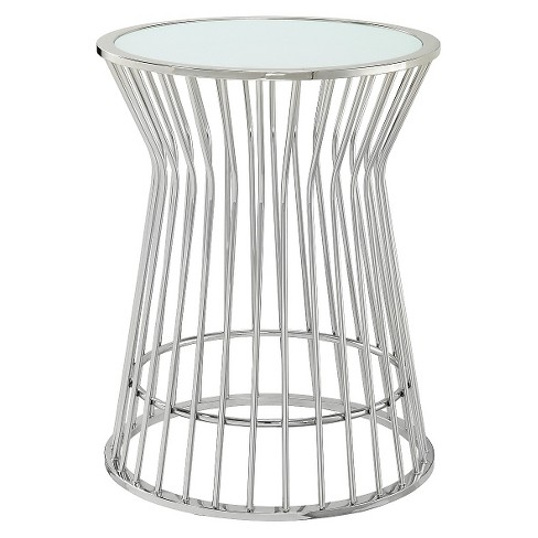 Jansen Drum Accent Table Chrome - Inspire Q - image 1 of 3