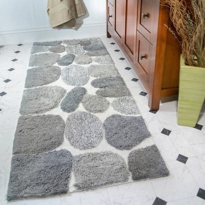 Attirant Pebbles Bath Rug Runner Gray   Chesapeake