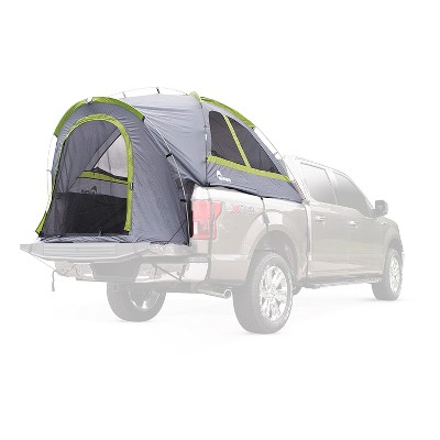 Napier 19 Series Backroadz Full Size Long Bed Truck Tent with Weather Protection and Storm Flaps for Camping in Spring, Summer, and Fall, Gray/Green