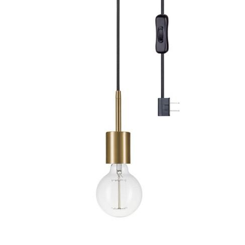 Globe Electric 65980 Leila 1 Light Plug In Pendant