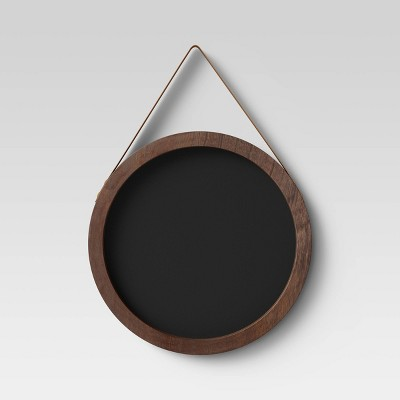 Round Hanging Chalkboard Black - Threshold™