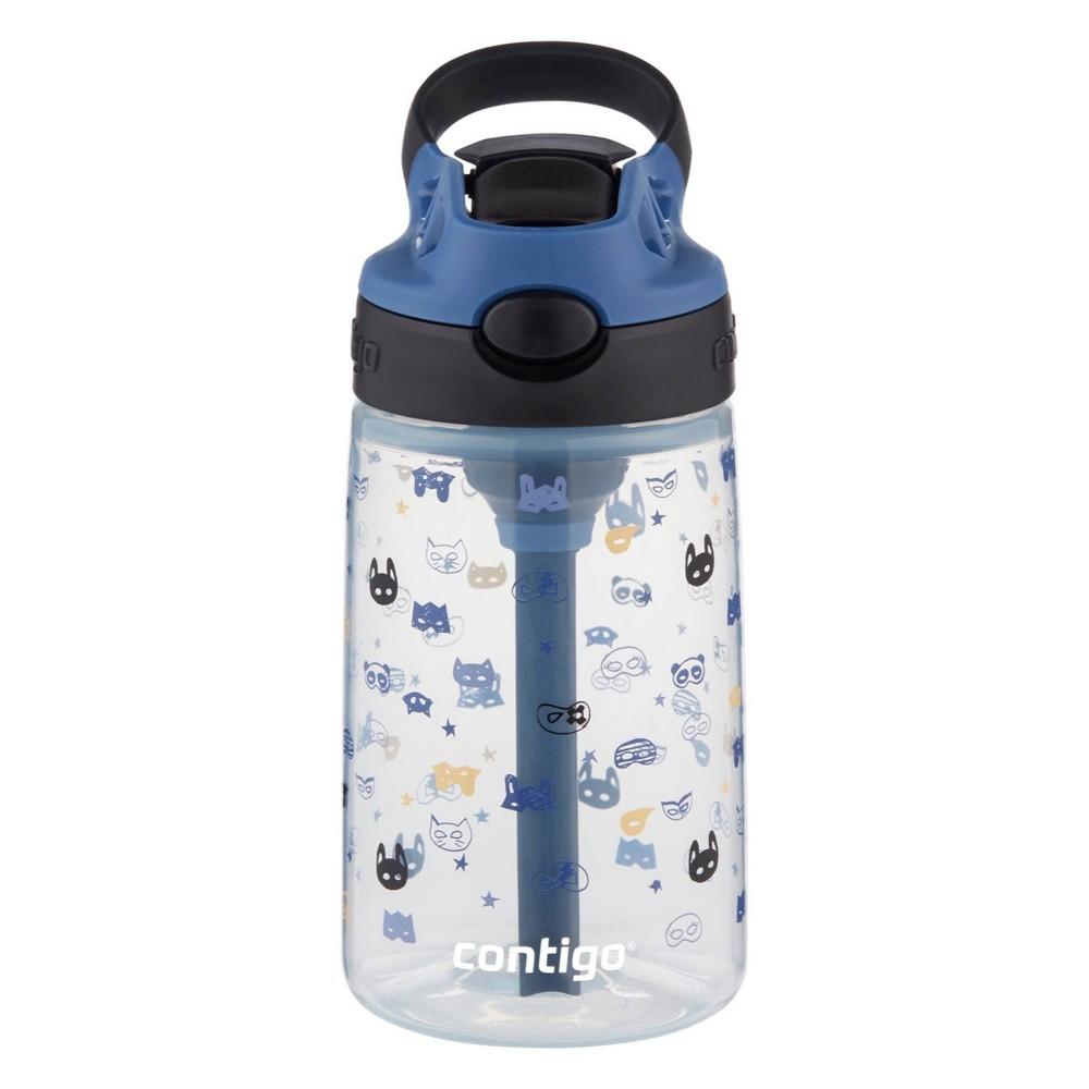 Contigo 14oz Plastic Kids 39 Autospout Water Bottle Masks Print Blue