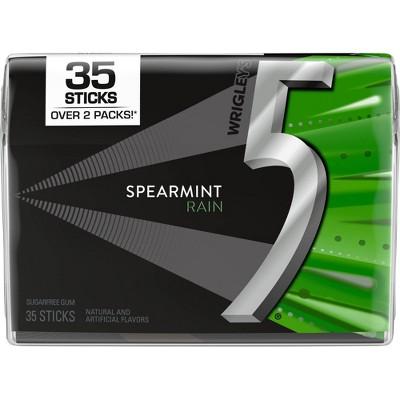 Wrigley's 5 Spearmint Rain Sugarfree Gum - 35ct