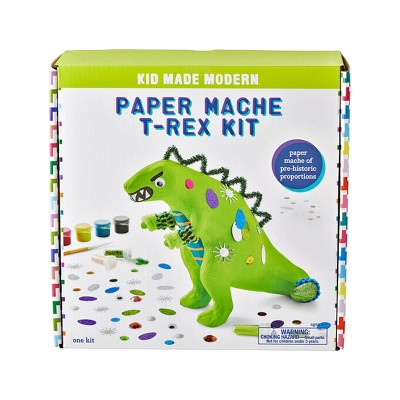 Kid Made Modern Paint Your Own Paper Mache T-Rex Kit
