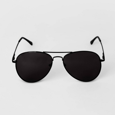 Men's Aviator Metal Sunglasses - Goodfellow & Co™ Black