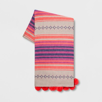 Cotton Woven Global Stripe Throw Blanket   Opalhouse by Opalhouse