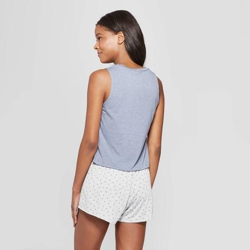 386fa7203407f Grayson Threads Women s C est La Vie Tank Top And Shorts Pajama Set - Blue    Target