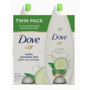 Dove go fresh Cucumber and Green Tea Body Wash Twin Pack - 22oz