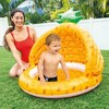 Intex 58414EP 40 Inch Pineapple Design Outdoor 1 to 3 Years Old Baby Toddler Inflatable Swimming Pool with Soft Floor Bottom and Built In Sunshade - image 3 of 3