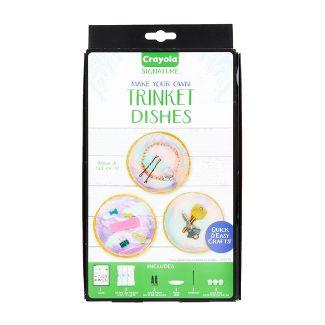 Crayola 8pc DIY Trinket Dishes, Jewelry Tray
