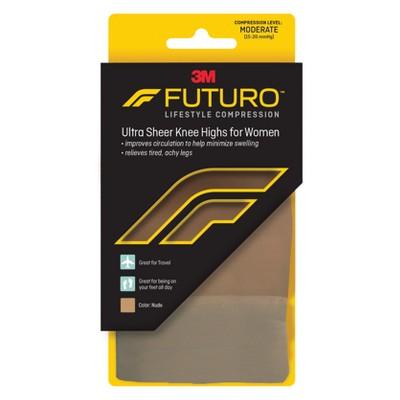 FUTURO Ultra Sheer Knee Highs for Women - Nude