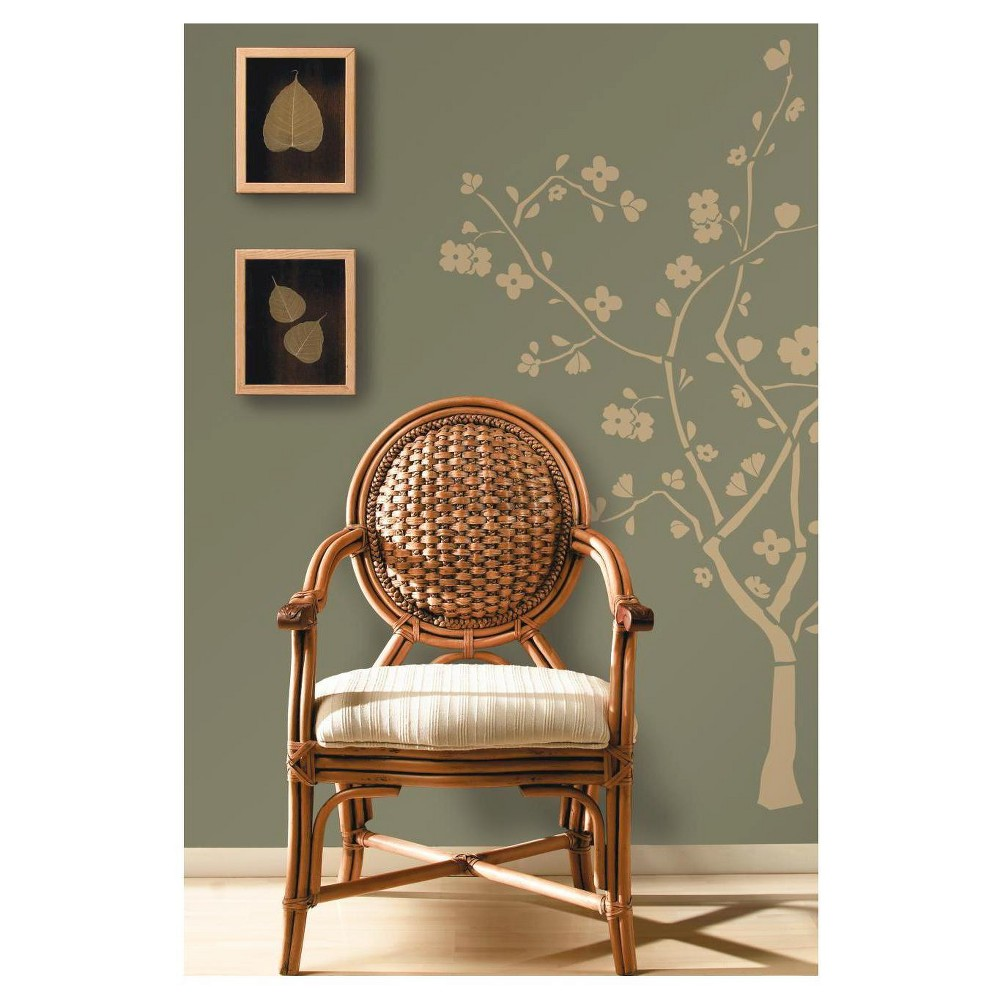 RoomMates Cherry Blossom Peel & Stick Wall Decals Build your own beautiful blossom tree right on your wall with RoomMates' Cherry Blossom peel and stick wall decals. This golden tree suits any wall color and is the perfect accent to any room. RoomMates' Cherry Blossom peel and stick wall decals should be applied to smooth, flat surfaces, and are removable, repositionable and reusable! Color: MultiColored. Gender: female.