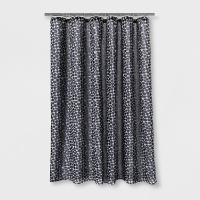 Woven Dot Shower Curtain Black - Project 62™