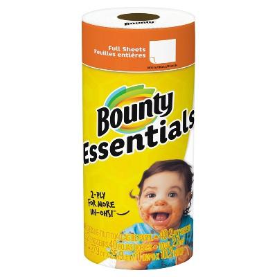 Bounty White Essentials Paper Towels - 1 Regular Roll