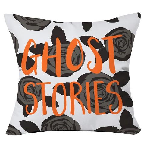 "20""x20"" Zoe Wodarz Ghost Stories Throw Pillow Black - Deny Designs - image 1 of 3"