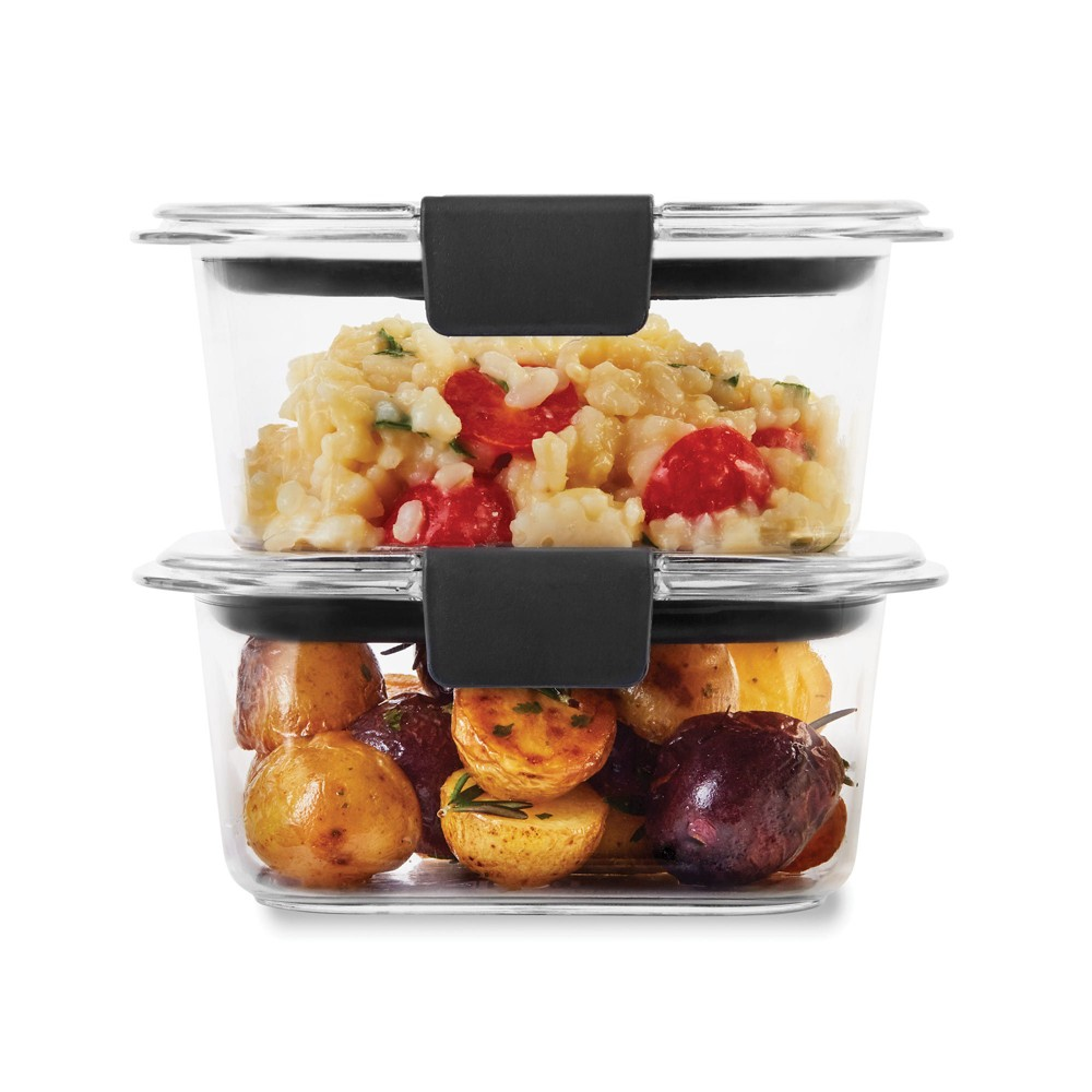 Image of Rubbermaid 1.3 cup 2pk Brillance Food Storage Container, Clear
