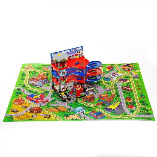 Lucky Toys Parking Lot with Playmat Set 47pc image number null