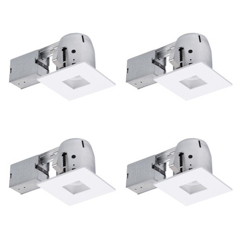 """Globe Electric 90949 Pack of 4 LED Adjustable Square 4"""" Trim and Housing Packages - 3000K - image 1 of 4"""