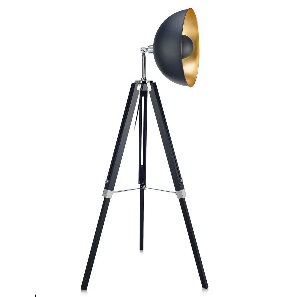 Versanora - Fascino Tripod Floor Lamp - Black/Gold (Lamp Only)