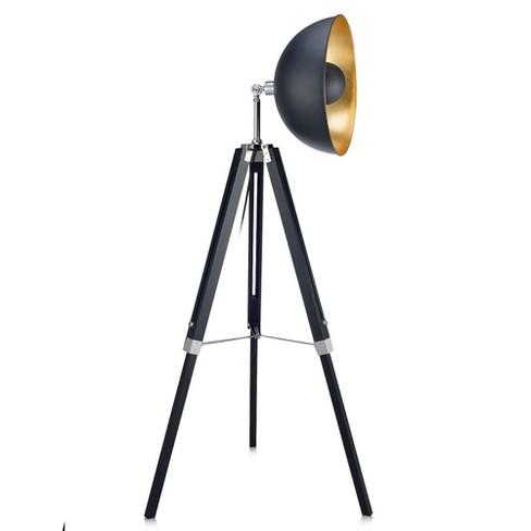 Versanora Fascino Tripod Floor Lamp Black Gold