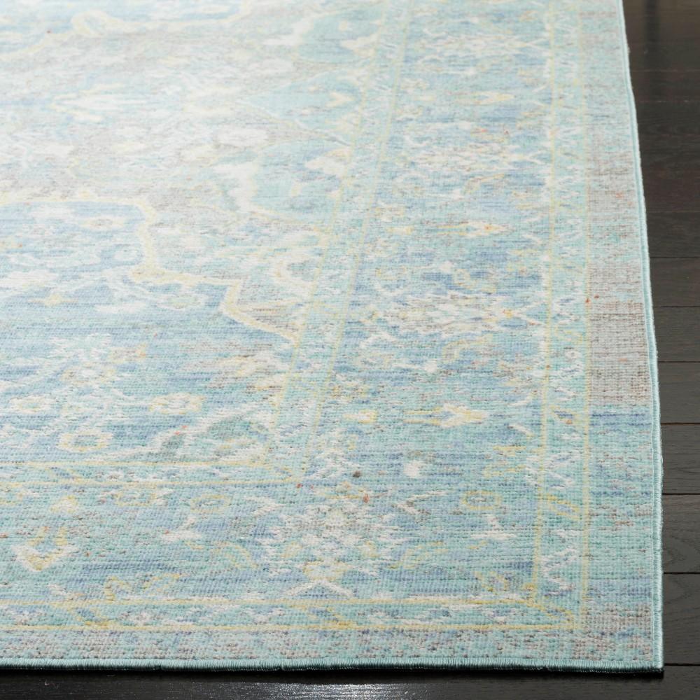 3'x12' Medallion Loomed Runner Seafoam/Blue - Safavieh