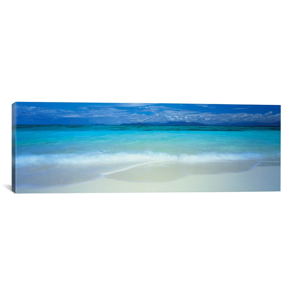 "Image of ""12""""x36"""" Great Barrier Reef, Australia by Panoramic Images Unframed Wall Canvas Print Cayman Turquoise - iCanvas"""