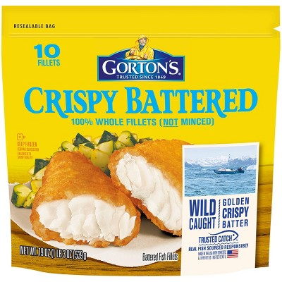 Gorton's Crispy Battered Fish Fillets - Frozen - 19oz/10ct