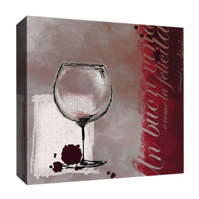 Wine Stain Decorative Canvas Wall Art 16 x16  - PTM Images