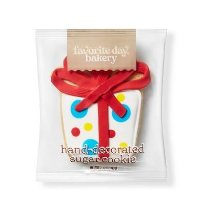 Gift Box Sugar Cookie - 1ct - Favorite Day™