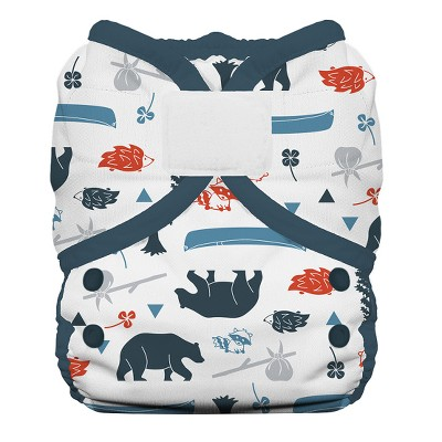 Thirsties Duo Wrap Hook & Loop Diaper, Size One - Adventure Trail