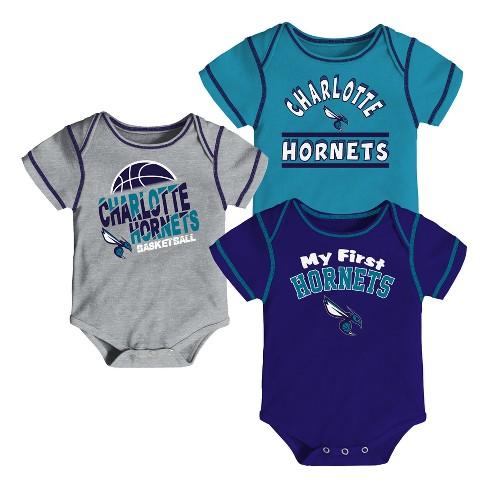 NBA Charlotte Hornets Boys' Rookie 3pk Body Suit Set - image 1 of 4