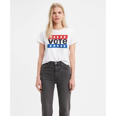 Levi's® Women's Graphic Surf Vote Cropped T-Shirt